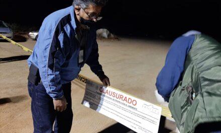 CLAUSURAN CONSTRUCCIÓN DE INMUEBLE PARA EVENTOS MASIVOS EN VALLE DE GUADALUPE